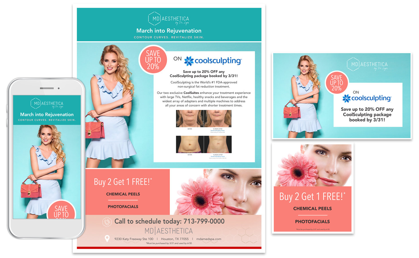 Create print and social assets from your eblast design