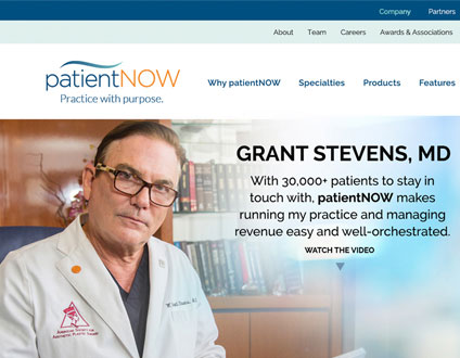 Branding & Site Redesign | patientNOW EMR Software