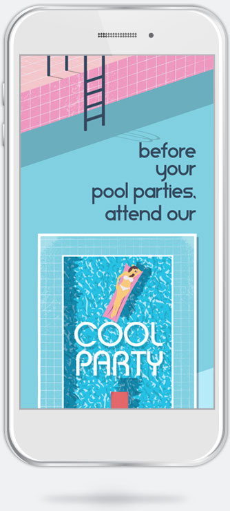 Cool Party email campaign