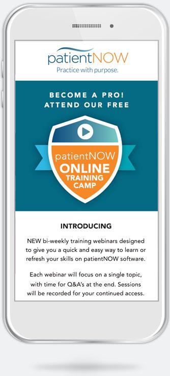 patientNOW email campaign